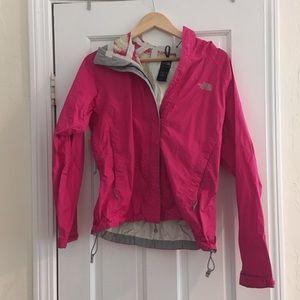 North Face pink raincoat